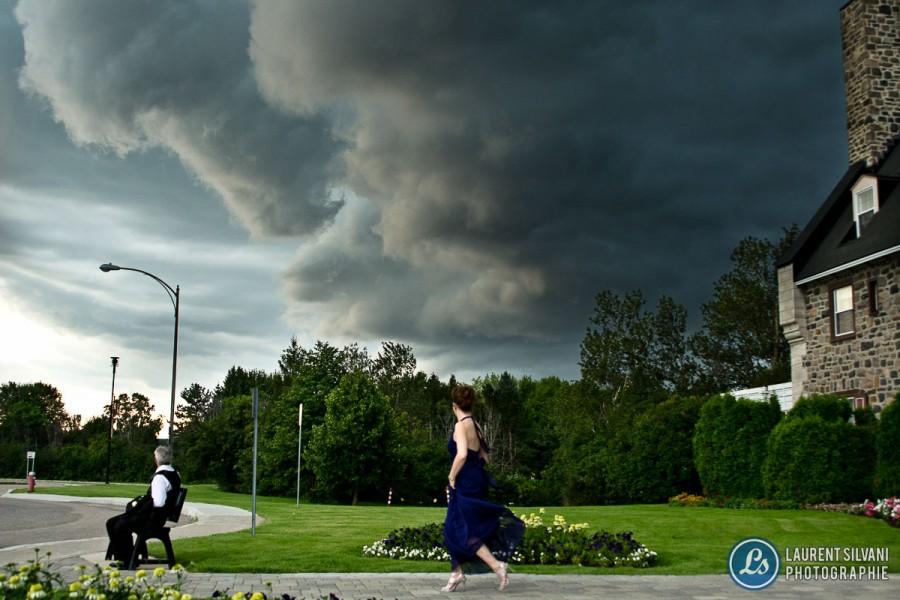 Orage violent et veille de tornade au Saguenay lors d'un mariage