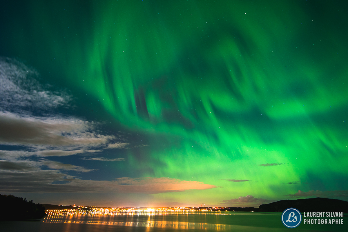 aurore boréale au Saguenay-Lac-Saint-Jean
