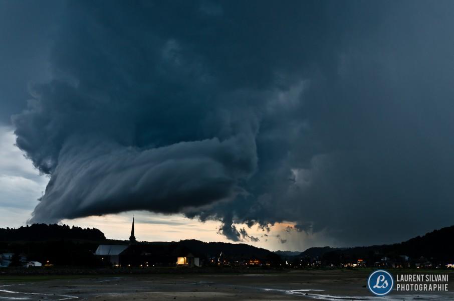 Orage impressionnant au Saguenay-Lac-Saint-Jean