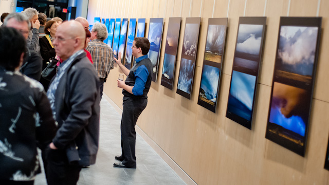 Exposition Atmosphère par le photographe Laurent Silvani au Musée du Fjord, Saguenay.