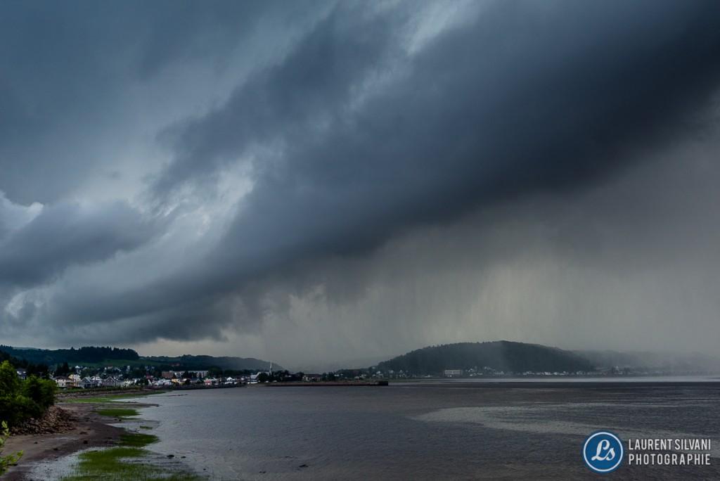 orage du 18 juillet à La Baie, Saguenay