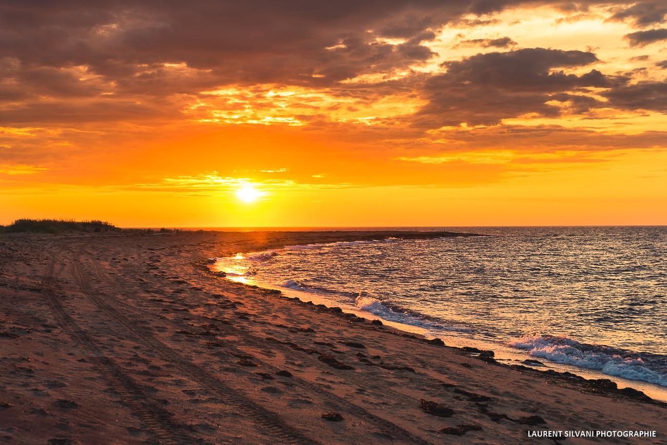 Lever de soleil à Pointe-Lebel