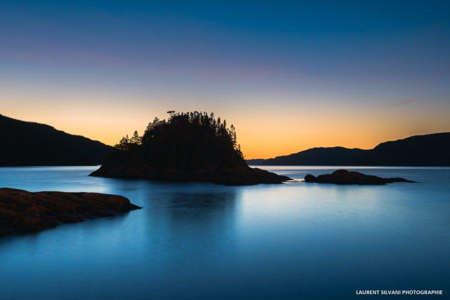Coucher de soleil à Petit-Saguenay