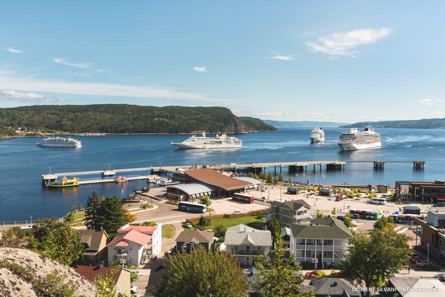 Le quai des croisières au Saguenay