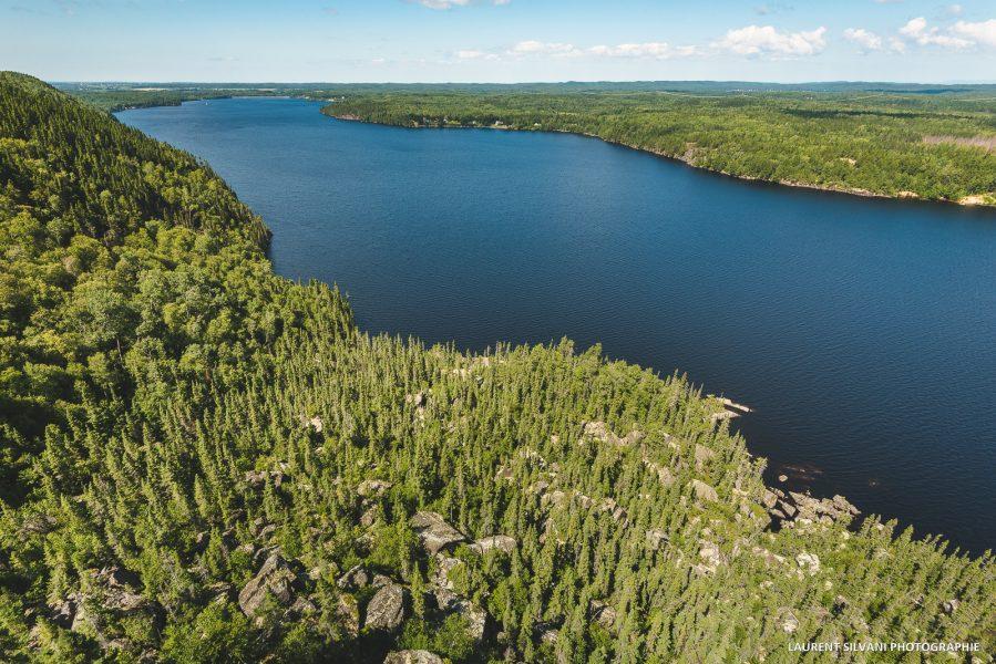 Paysage du Cap à l'aigle au Lac-Kénogami