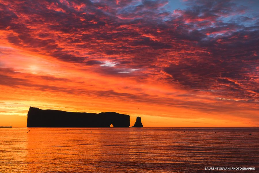 Paysage du Rocher Percé en Gaspésie