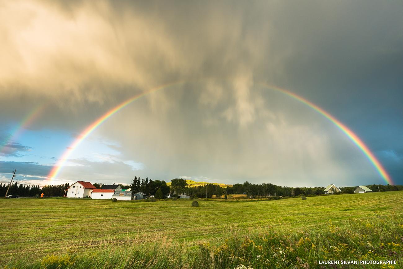 Double arc-en-ciel à St-Urbain, Charlevoix
