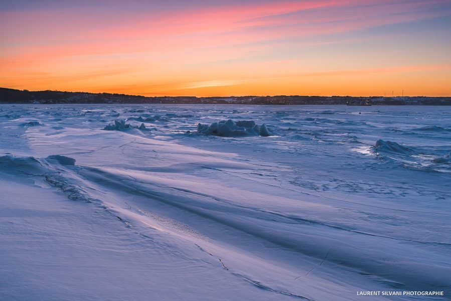 Paysage hivernal du Saguenay